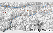 """Physical 3D Map of the area around 36°47'25""""N,73°10'30""""E"""