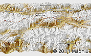 """Satellite 3D Map of the area around 36°47'25""""N,73°10'30""""E"""