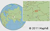 "Savanna Style Location Map of the area around 36°47'25""N,73°10'30""E"