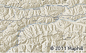 """Shaded Relief Map of the area around 36°47'25""""N,73°10'30""""E"""