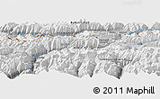 "Physical Panoramic Map of the area around 36° 47' 25"" N, 73° 10' 30"" E"