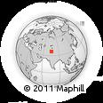 Outline Map of Kunjirap Daban, rectangular outline