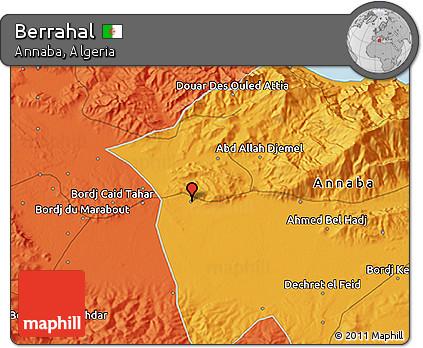 Political 3D Map of Berrahal