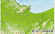 Physical Map of Annaba