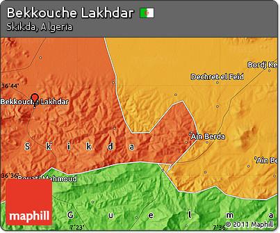 Political Map of Bekkouche Lakhdar