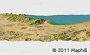 Satellite Panoramic Map of Djema Sidi Ali Belkassem