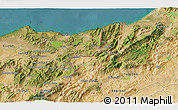 Satellite 3D Map of Mechta Ouled Khehi