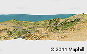 Satellite Panoramic Map of 'Aïn Kerma