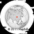 Outline Map of Xireg, rectangular outline