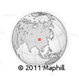 Outline Map of Sênag, rectangular outline