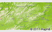 Physical 3D Map of Béja