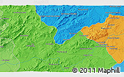 Political 3D Map of Béja