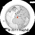Outline Map of Béja, rectangular outline
