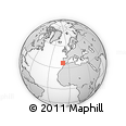 """Outline Map of the Area around 36° 47' 25"""" N, 9° 16' 30"""" W, rectangular outline"""