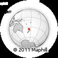 Outline Map of Dargaville, rectangular outline