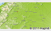"""Physical 3D Map of the area around 36°1'30""""S,72°10'30""""W"""