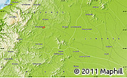 """Physical Map of the area around 36°1'30""""S,72°10'30""""W"""