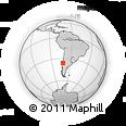 Outline Map of Parral, rectangular outline
