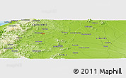"""Physical Panoramic Map of the area around 36°1'30""""S,72°10'30""""W"""