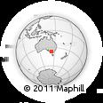 Outline Map of Leichardt, rectangular outline