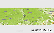 "Physical Panoramic Map of the area around 36° 29' 4"" S, 146° 16' 30"" E"