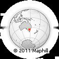 Outline Map of Myrtleford, rectangular outline