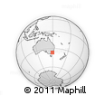 Outline Map of Bermagui, rectangular outline