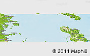"""Physical Panoramic Map of the area around 36°29'4""""S,175°10'30""""E"""