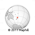 Outline Map of Whangapoua, rectangular outline