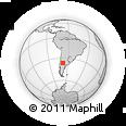 Outline Map of Los Jagüeles, rectangular outline