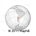 Outline Map of Chile, rectangular outline