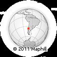 Outline Map of Ñuble Rupanco, rectangular outline