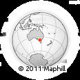 Outline Map of Bendigo, rectangular outline