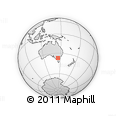 Outline Map of Merton, rectangular outline