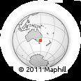 Outline Map of Bournda Beach, rectangular outline