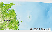 Physical 3D Map of Whitianga