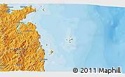 Political 3D Map of Whitianga