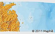 Political 3D Map of Tairua