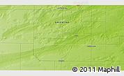 Physical 3D Map of Quehué