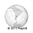 Outline Map of Ataliva Roca, rectangular outline