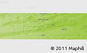 Physical Panoramic Map of Quehué