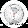 Outline Map of Valle Daza, rectangular outline