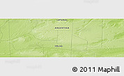 Physical Panoramic Map of Valle Daza