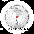 Outline Map of El Odre, rectangular outline