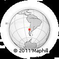 Outline Map of Concepción, rectangular outline