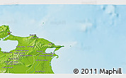 Physical 3D Map of Bizerte