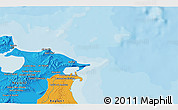 Political 3D Map of Bizerte