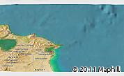 Satellite 3D Map of Bizerte