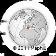 Outline Map of Bizerte, rectangular outline