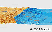 """Political Panoramic Map of the area around 37°14'49""""N,113°58'29""""E"""